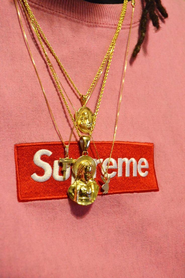 Supreme Box Logo x Gold Chains