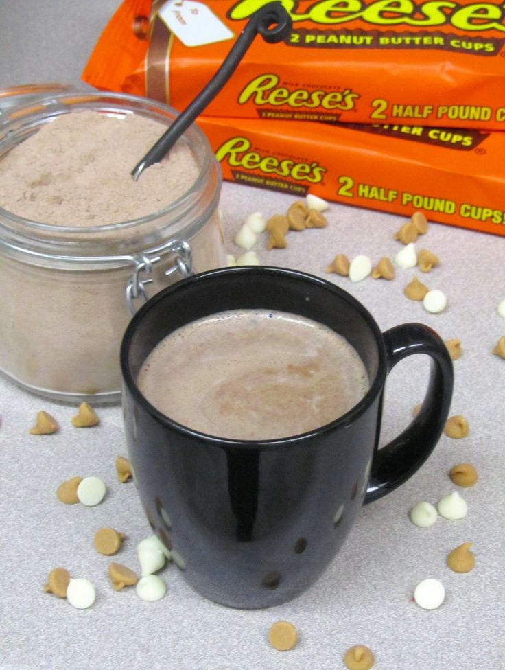 Homemade Peanut Butter Hot Cocoa Mix.  Ohhh, I WILL be making this . . . tonight!