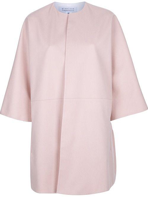 - Gianluca Capannolo 'Mina' Coat -  Shop it on dolcitrameshop.com #pink #dress #gianlucacapannolo #womens #farfetch #dolcitrame #dolcitrameshop #fashion