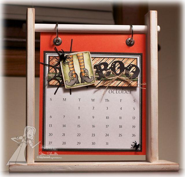 Boo - October Calendar by Jen Shults #Calendar