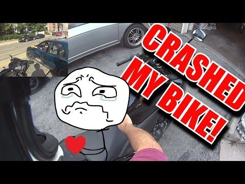 CRASHED my Bike Yesterday!! NOooooo