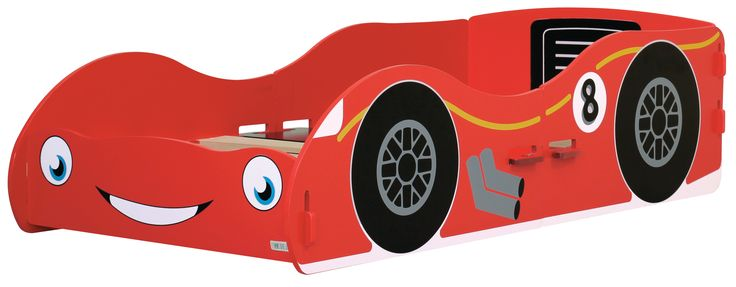 The Racing Car Junior Bed has had a new face lift with a funky & speedy design. Our screen printed style turns it into a fun cartoon effect. On the front of the bed it has a cute little smile & big blue eyes, which looks really effective . The bed comes in a red painted finish, perfect for your next F1 champ. The Racing Car Junior Bed is cleverly designed to just simply slot together like a jigsaw. #furniture #nursery #child #themed #bed #boy #girl #car