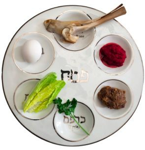 Another vital element, the seder plate holds six symbolic foods that each represent a part of the Passover story.
