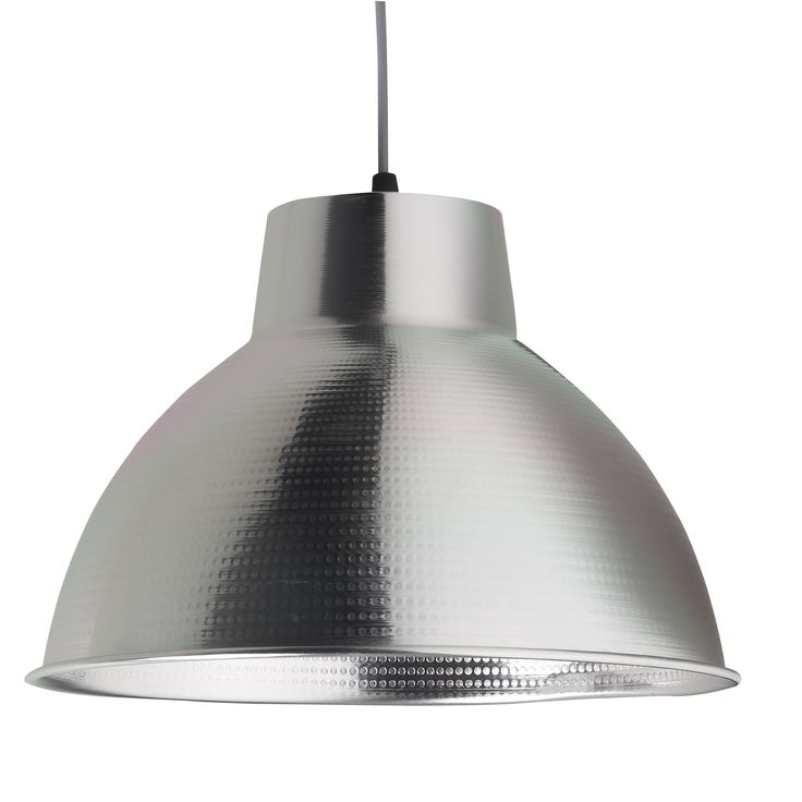 Suspension en m tal gris box luminaire les suspensions for Suspension luminaire rouge cuisine