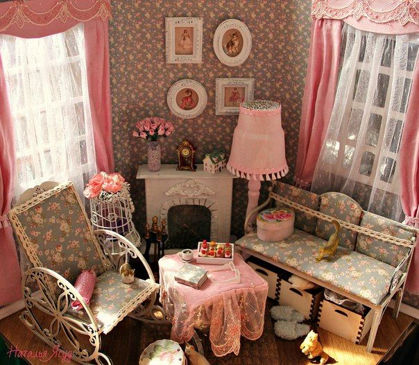 Dollhouse Miniature Roombox Sitting Room: 243 Best Images About Miniature Roomboxes On Pinterest