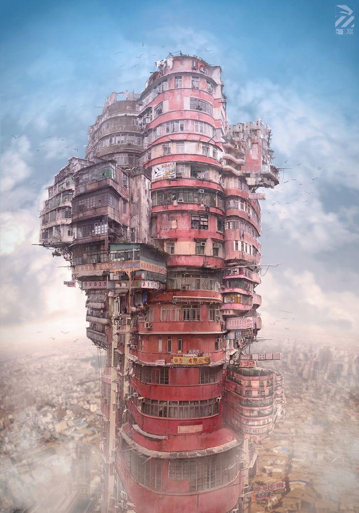Hong Kong meets Howl's Moving Castle #art #hongkong
