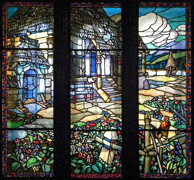 Marosvásárhelyi Kultúrpalota üvegablak