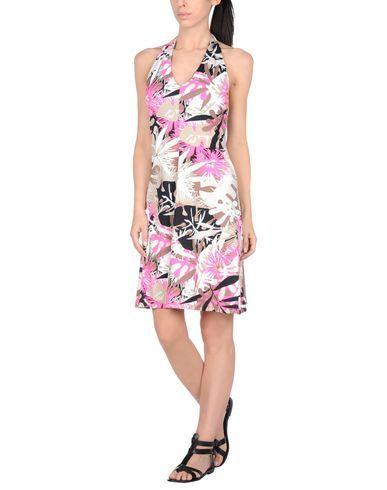 ¡Cómpralo ya!. FISICO-CRISTINA FERRARI Vestido de playa mujer. tejido sintético, logotipo, estampado floral, sin bolsillo , vestidoinformal, casual, informales, informal, day, kleidcasual, vestidoinformal, robeinformelle, vestitoinformale, día. Vestido informal  de mujer color violeta rojizo de FISICO-CRISTINA FERRARI.