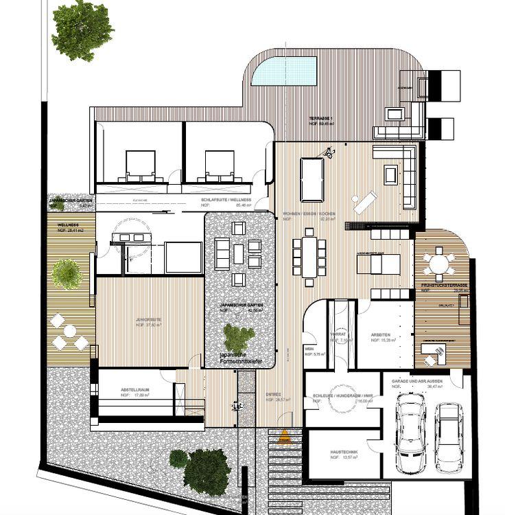 Moderne häuser grundriss neubau  49 besten Architektur Bilder auf Pinterest | Moderne architektur ...