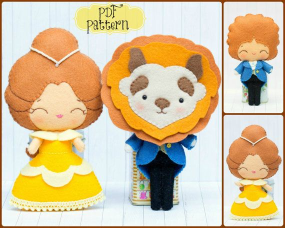 Beauty and the beast.  http://www.etsy.com/listing/156794083/beauty-and-the-beast-pdf-pattern