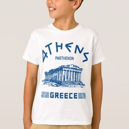 Parthenon - Athens - Greek (blue) T-Shirt - click/tap to personalize and buy