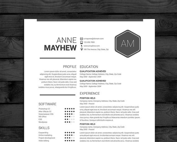 modern resume template for ms word pages 3 pages with cover letter easy - Free Template Resume