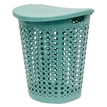 Home Logic Laundry Hamper with Lid - Teal
