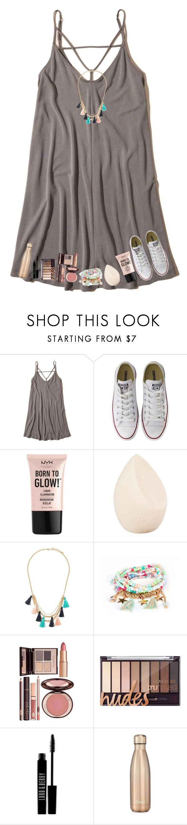 """comment  to join taglist !!"" by nc-preppy-living ❤ liked on Polyvore featuring Hollister Co., Converse, NYX, Christian Dior, Forever 21, Charlotte Tilbury, Lord & Berry and S'well"