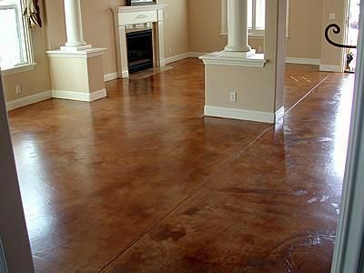 Terra Cotta Molted Concrete Floors Afs Creative Finishes