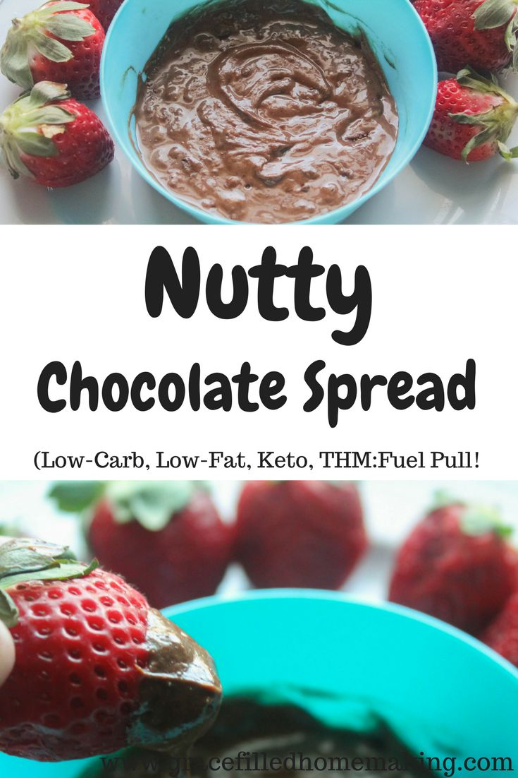 Nutty Chocolate Spread (Sugar-Free, Low-Carb, Low-Fat, THM:Fuel Pull!)