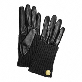 LEATHER KNIT GLOVE
