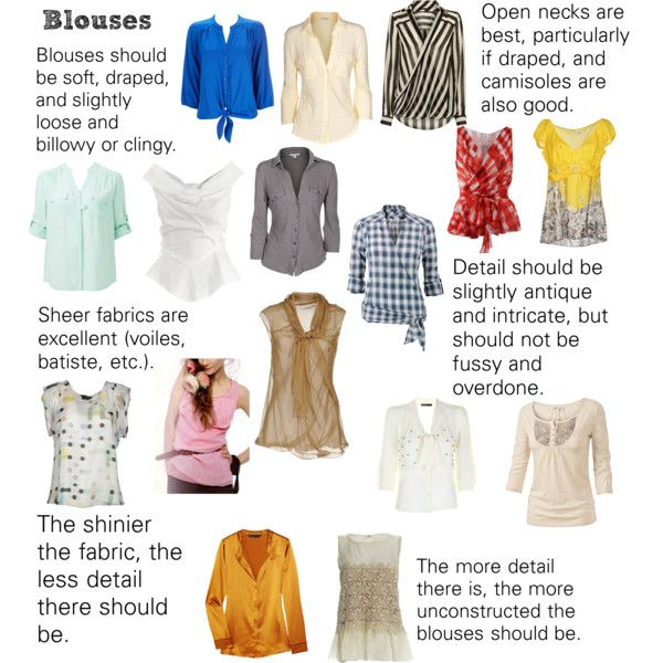 """""""Soft Natural (SN) - Blouses"""" by lightspring on Polyvore"""