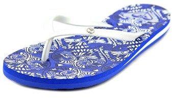 Roxy Bermuda Women Open Toe Synthetic Blue Flip Flop Sandal.