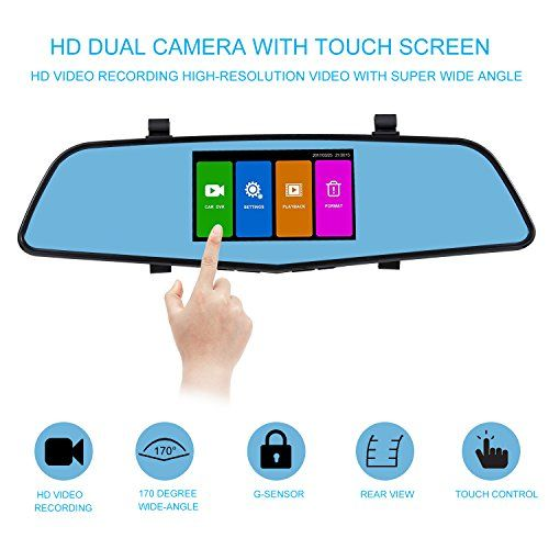 SENDOW Mirror Dash Camera 4.5 Inch IPS Touch Screen1080P Full HD Resolution 6G Glass Lens with Rearview Backup Camera Dual Lens Vehicle Dashboard Recorder DVR Parking Monitor G-Sensor Loop Recording. For product info go to:  https://www.caraccessoriesonlinemarket.com/sendow-mirror-dash-camera-4-5-inch-ips-touch-screen1080p-full-hd-resolution-6g-glass-lens-with-rearview-backup-camera-dual-lens-vehicle-dashboard-recorder-dvr-parking-monitor-g-sensor-loop-recording/