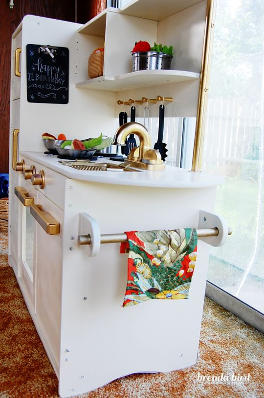 A Play Kitchen Gets a Glam Makeover | The Kitchn