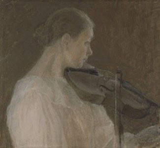 ELLEN THESLEFF  The Violin Player (1896)