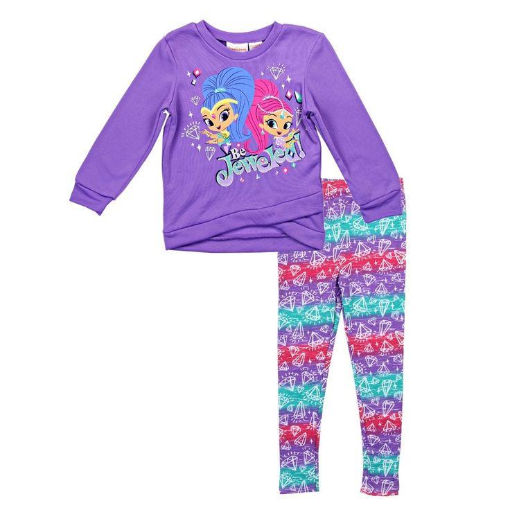 Shimmer and Shine 2-Piece Fleece top with Leggings Set - Toddler Girl