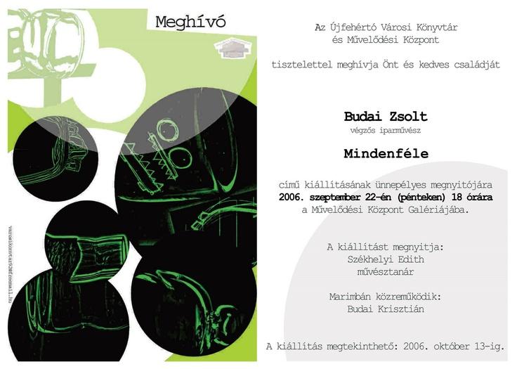 own exhibition invitation card