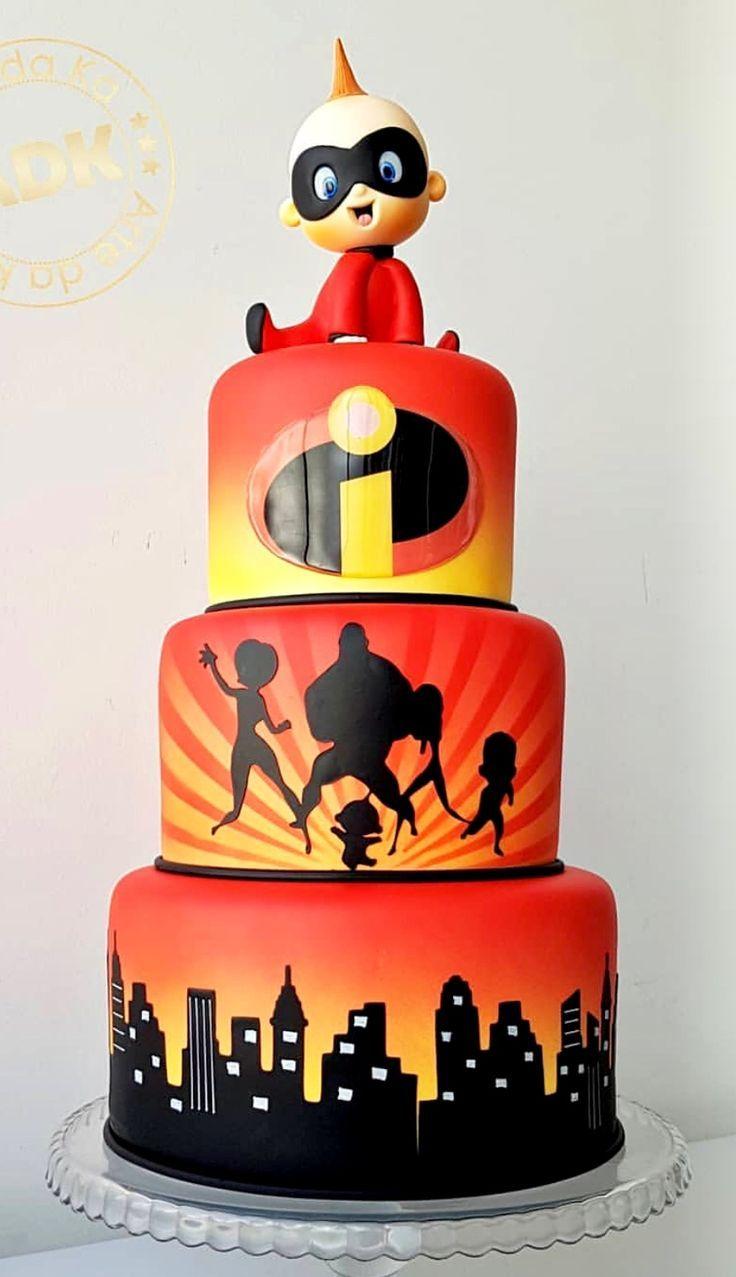 Incredibles Birthday Cake Superhero Party Ideas In 2019