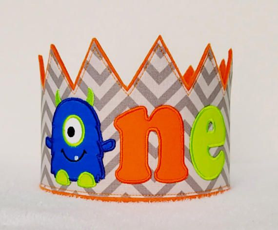 Monster Birthday Crown ONE Monster Party Hat1st Birthday