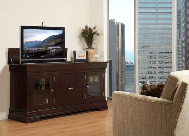 the rouge valley hidden tv lift cabinet is ideal for anyone who loves to entertain in