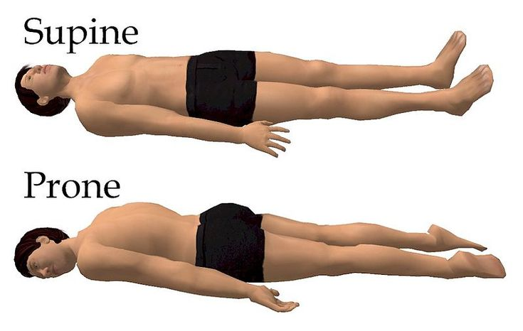 The supine sleeping position is a position of the body: lying down with the face up while sleeping as opposed to the prone position. Supine position is mostly used in surgical procedures, which allows access to many regions of the body, as well as the head, neck and stomach.