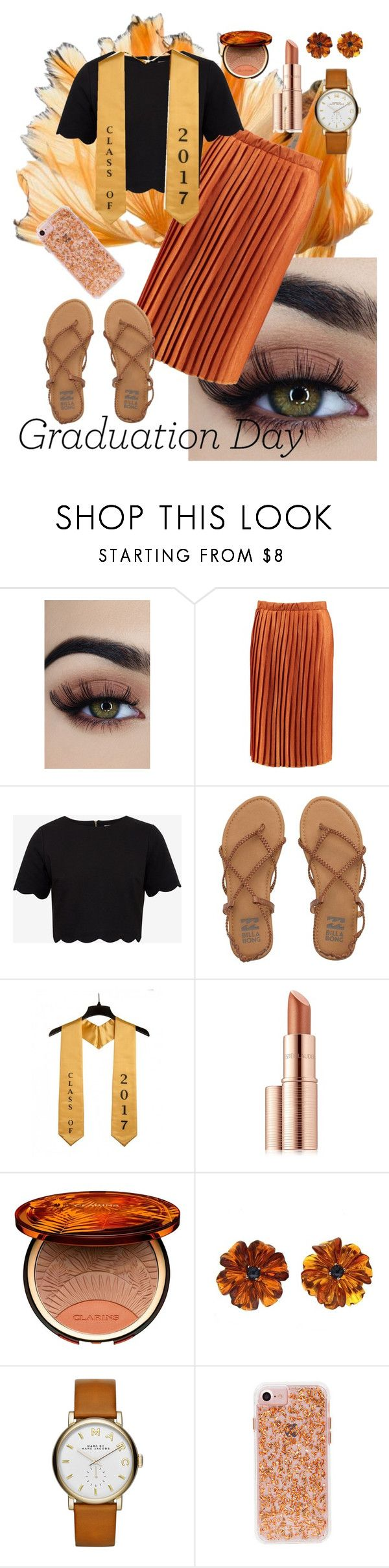 """""""Class of 2017!"""" by maureak ❤ liked on Polyvore featuring Boohoo, Ted Baker, Billabong, Estée Lauder, Clarins, Valentin Magro and Marc by Marc Jacobs"""