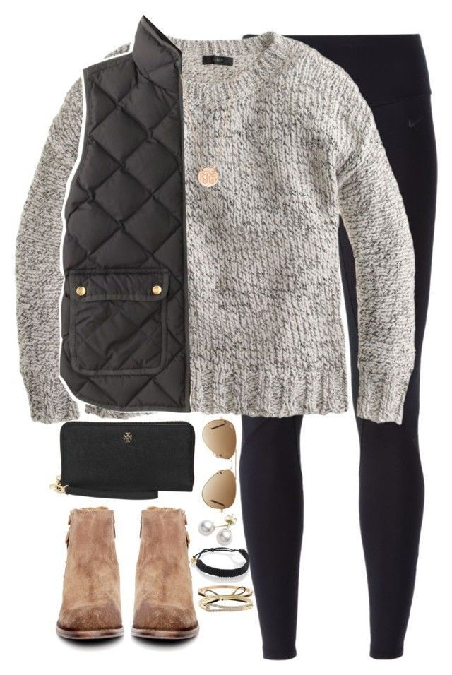 New Years Eve by keileeen ❤️ liked on Polyvore featuring NIKE, J.Crew, Pura Vida, H by Hudson, BaubleBar, Mikimoto, Ray-Ban, Tory Burch and Kate Spade #vestsoutfits