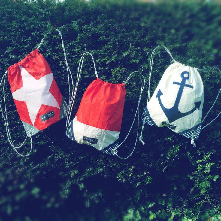 urban gym bag green fashion upcycling sailing ocean gym sac design