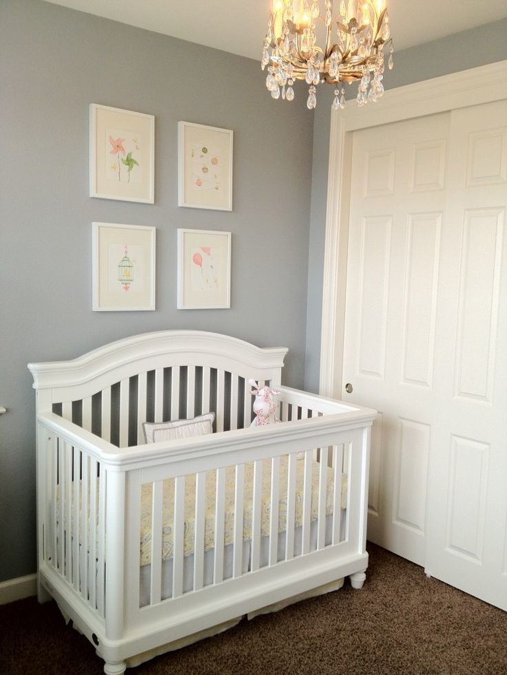 Blue Girl Nursery Walls