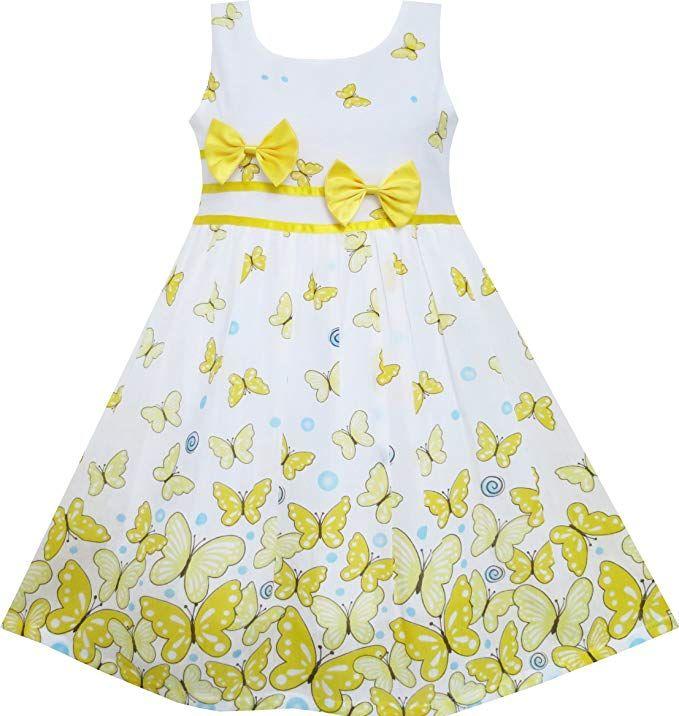 3a917b1c2c2af Amazon.com: Sunny Fashion Girls Dress Rose Flower Double Bow Tie Party  Sundress: Clothing