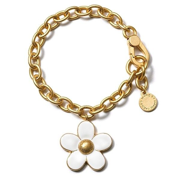 """MARC BY MARC JACOBS """"Daisy Charm"""" Bracelet (750 ARS) ❤ liked on Polyvore featuring jewelry, bracelets, accessories, pulseiras, jewelry & accessories, marc by marc jacobs, daisy flower jewelry, flower jewelry, daisy charm bracelet and flower jewellery"""