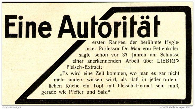 Original-Werbung/ Anzeige 1910 - LIEBIG'S FLEISCH - EXTRAKT - ca. 130 x 65 mm