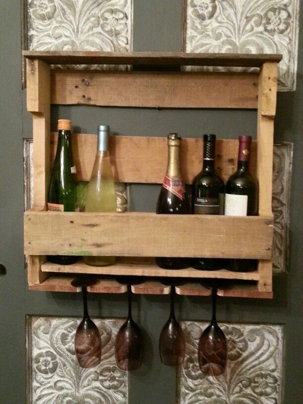 Wine rack out of recycled pallet wood 55 things i for How to make a wine rack out of pallet wood