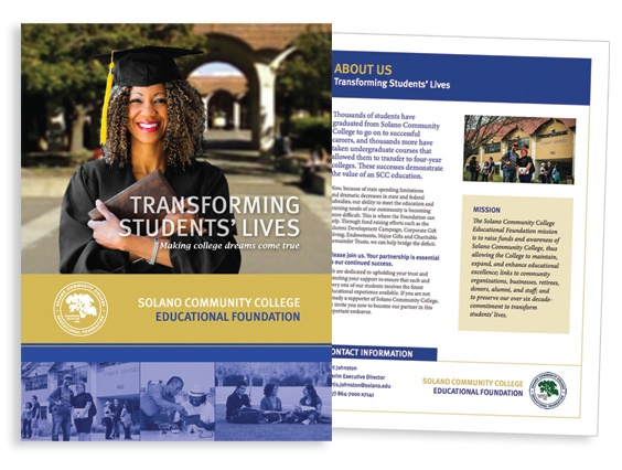 Solano Community College Education Foundation Brochure  Branding
