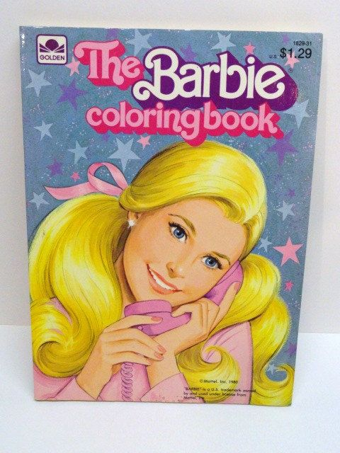 Vintage Barbie Coloring Book 1980 By WheeTreasures On Etsy 700
