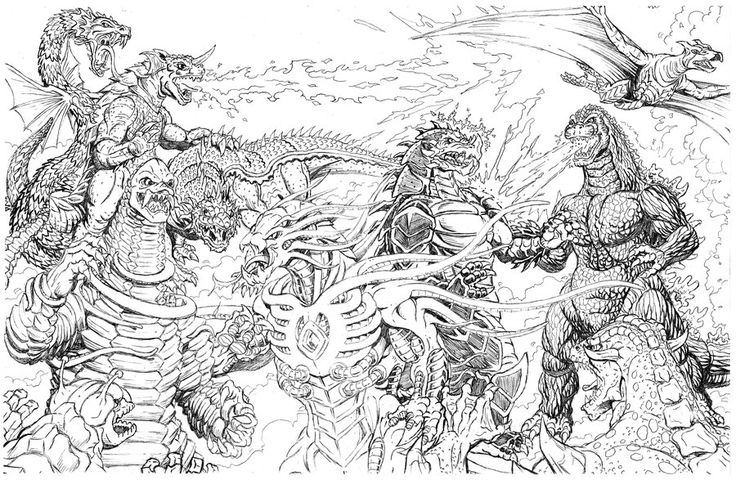 godzilla monsters coloring pages - photo#3