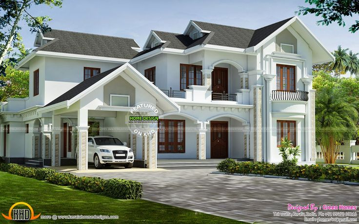 Kerala model dream home designed by green homes for Green home builders