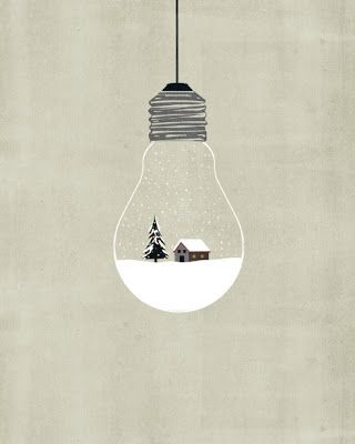 Adorable snow illustration by Alessandro Gottardo
