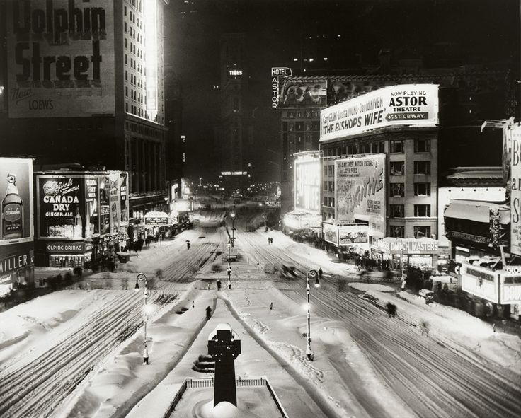 Times Square, view from 46th Street at night, December 26, 1947.  Photo by Herb Scharfman. Gift of International News Photos, 1948.  NYHS image #65202.