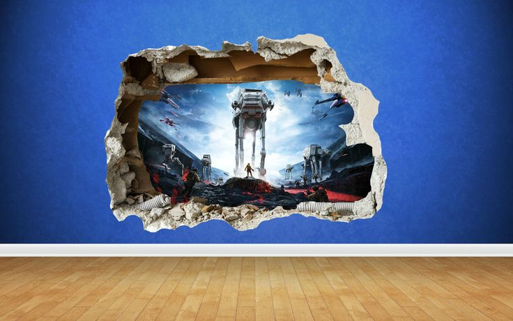 Star Wars Battlefront 3D Style smashed wall sticker kids children bedroom vinyl | Home, Furniture & DIY, Home Decor, Wall Decals & Stickers | eBay!