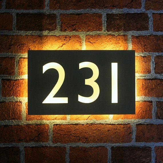 Led House Number Plaque Light Up House Number Plaque Backlit