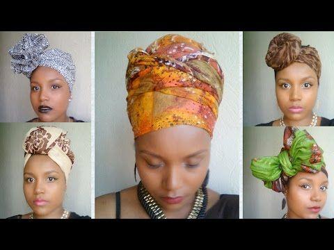 Headwrap tutorial #1 / Attaché de foulard, lesso, turban - YouTube