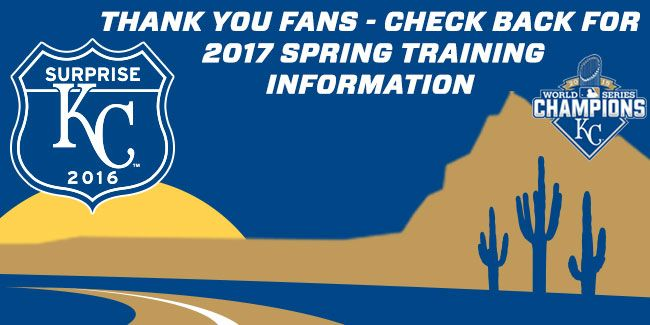 Royals Spring Training in Surprise AZ